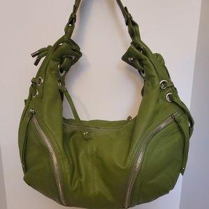 Hype Full Leather Green Hobo